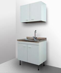 Mobile cucina con lavello inox componibile sottolavello cubo pensile base 80 50 ebay - Mobile sottolavello cucina ...