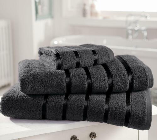 Egyptian Cotton Satin Stripe Bath Towels Jumbo Sheet Bale Large Bathroom Set New
