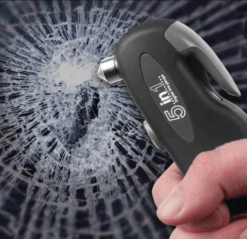 Digital Tire Pressure Gauge Window Glass Hammer Breaker Seatbelt Cutter Car