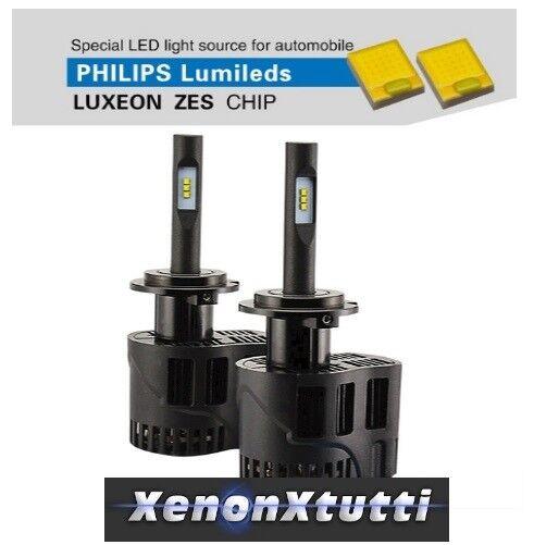 KIT LED H7 4000K 6400LM LAMPADE ZES H4-3 AUTO MOTO CAMION 12V 24V
