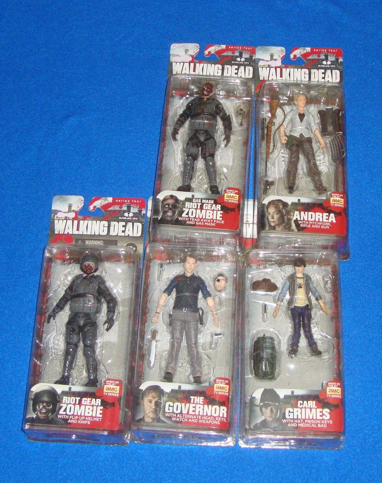 The Walking Dead Series 4 Figure Lot Lot Lot of 5 All MIB 4836a1