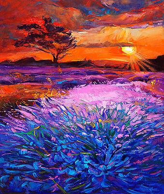 A0 Size Canvas Print Australia Landscape Outback Sunset Painting Ebay