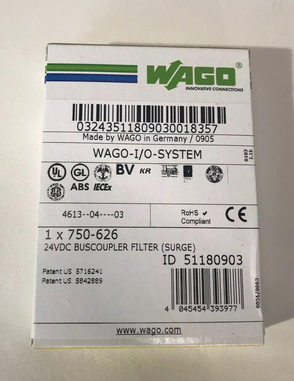 Surge UNUSED Wago 750-626 24 V DC Power Supply Filtre