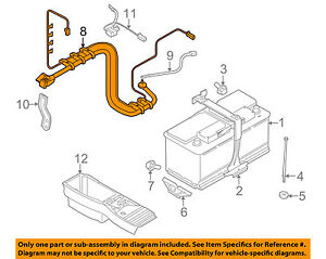 details about bmw oem 12-14 x6 3 0l-l6 battery-wiring harness 61129292885
