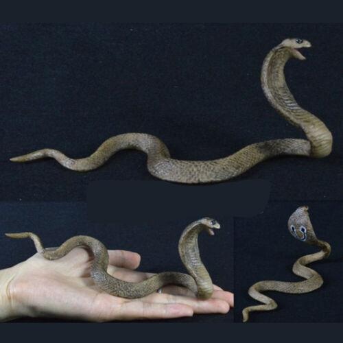 Useful Model Cobra Snake Solid PVC Plastic Figure Lifelike Children Brand New
