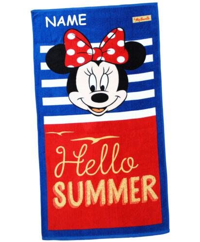 """100 /% Baumwolle Strandtuch // Badetuch Hello Summer /"""" /"""" Disney Minnie Mouse"""