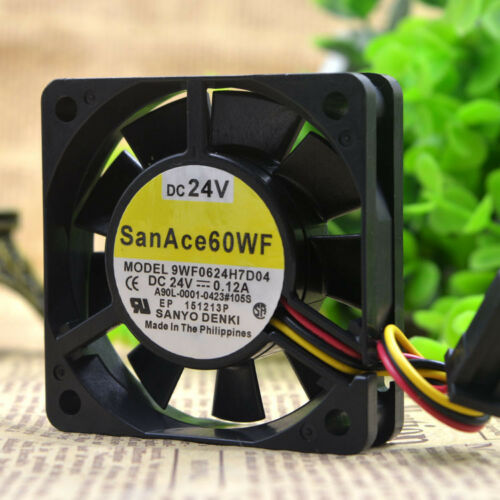 1PC Sanyo 9WF0624H7D04 6CM 6015 24V 0.12A 3-wire cooling fan