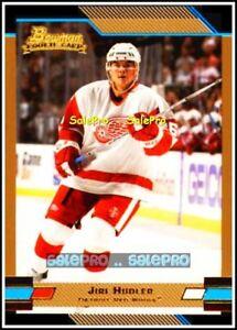 BOWMAN-2003-JIRI-HUDLER-NHL-DETROIT-RED-WINGS-RARE-PARALLEL-GOLD-114