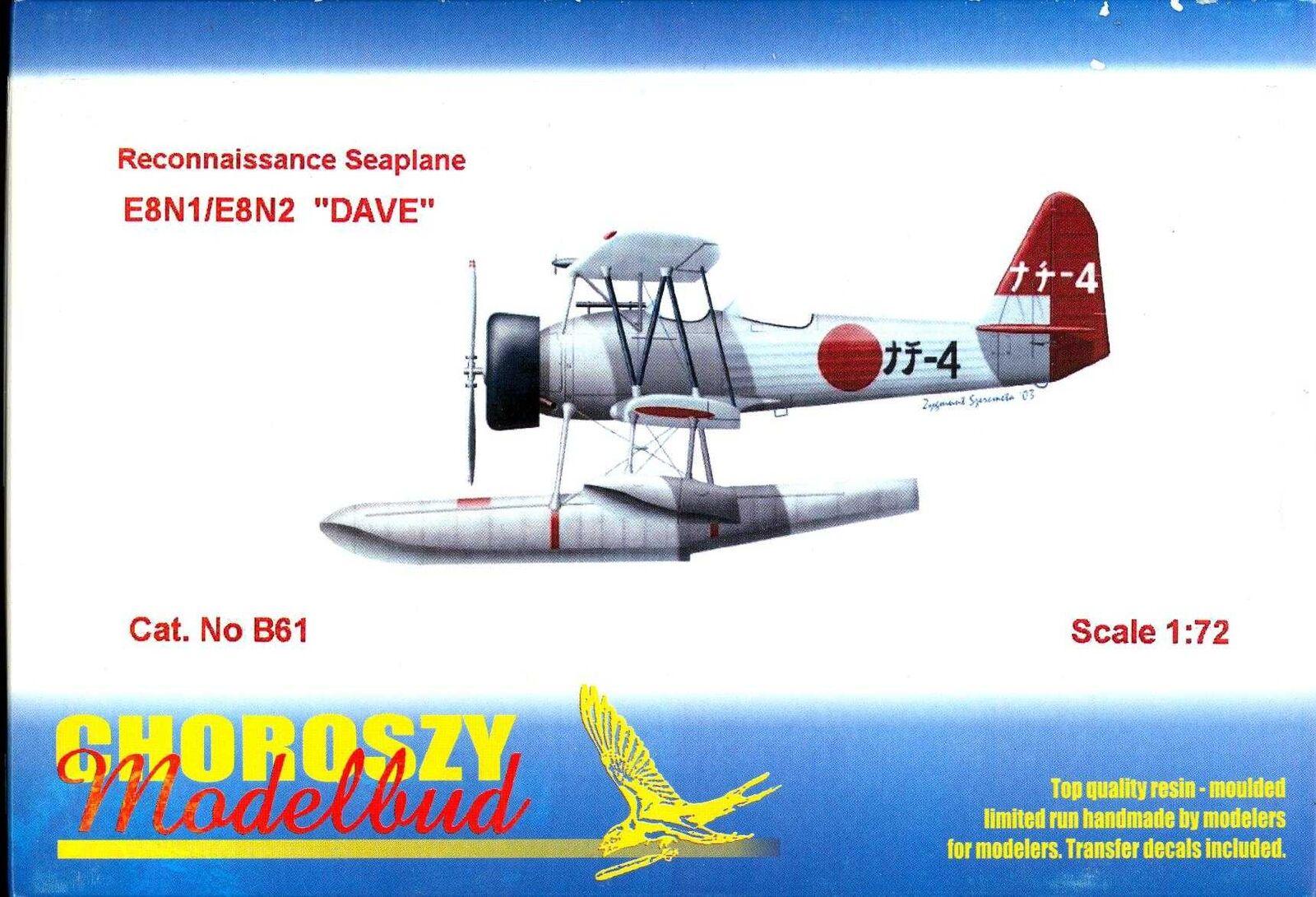 Chgoldszy Models 1 72 NAKAJIMA E8N1 DAVE Japanese WWII Seaplane