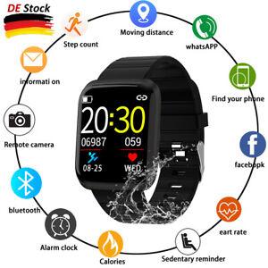 Smartwatch Bluetooth Armbanduhr Herzfrequenzmessung Blutdruck Fitness Tracker DE