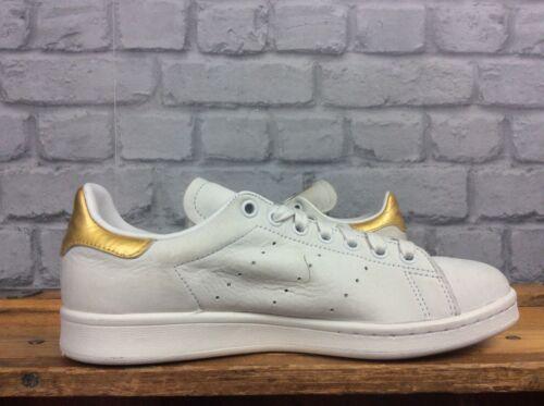 24k Uk Vintage ginnastica Mens Leaf bianco Smith Stan Eu 6 3 39 Gold 999 da Adidas RzB4qw57W7