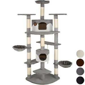 kratzbaum katzenkratzbaum katzenbaum kletterbaum sisal katzen xxl deckenhoch neu ebay. Black Bedroom Furniture Sets. Home Design Ideas