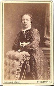 CDV Foto Feine Dame - Rudolstadt 1880er -  Winsen, Deutschland - CDV Foto Feine Dame - Rudolstadt 1880er -  Winsen, Deutschland