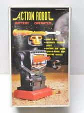 ACTION ROBOT 1978 Shooting missiles Hong Kong plastic vintage great shape 1970's