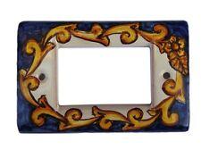 placca copri interruttori in ceramica  a 4 fori mx bb