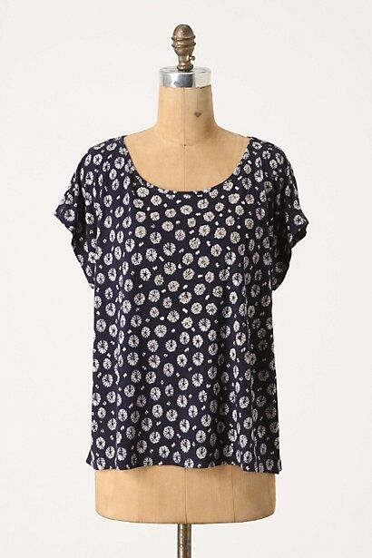 NWT Anthropologie Eventide Erodium Adorned Top Size S