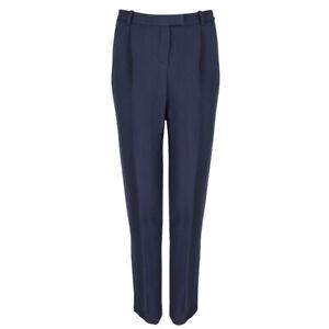 Alexander-Terekhov-Navy-Tailored-Fit-Tapered-Leg-Trousers-Pants-IT40-UK8