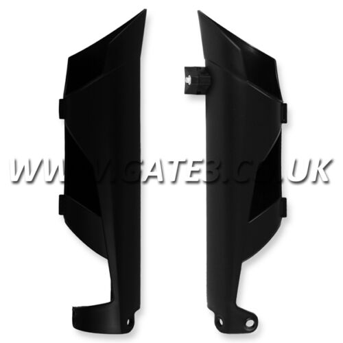 KTM 500EXCF EXC-F 500 2012-2014 BLACK FRONT LOWER FORK GUARDS ENDURO TRAIL