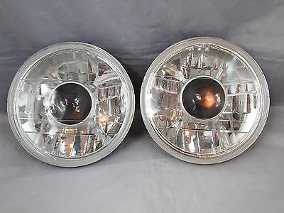 "97-15 Jeep Wrangler TJ JK 7"" Projector Round Chrome Replacement Clear Headlights"