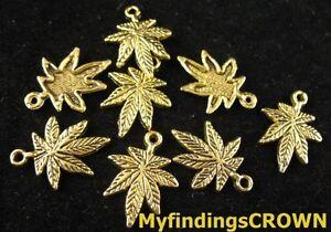 80-Pcs-Antiqued-gold-Large-leaf-charms-FC1374