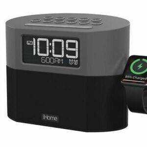 5187622432c iHome Bluetooth Dual Alarm FM Clock Radio with Speakerphone