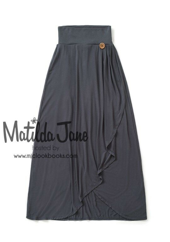 Matilda Jane Gaines Once Upon Time Sweet & Simple Maxi Skirt Size L Large VGUC