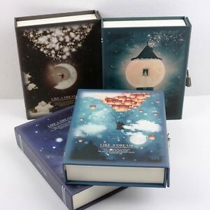 """""""Like a Dream"""" 1pc Journal Notebook Lock Box Diary Cute Stationery Gift Package"""