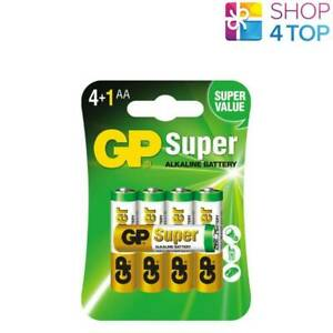5 GP SUPER ALKALINE BATTERIES AA LR6 1.5V NO MERCURY AND CADMIUM EXP 2030 NEW