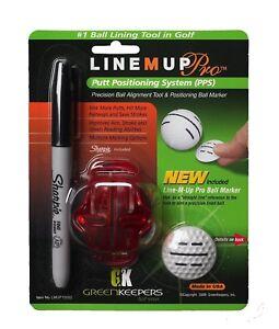 LINE-M-UP-Golf-pro-Ball-Abrieb-Putt-Positionierung-System-und-Markier