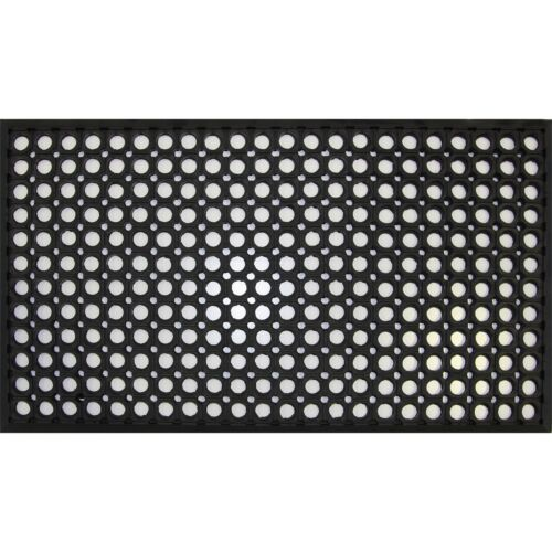 Bayliss Black RUBBER CIRCLE DOOR MAT Helps Reduce Stress of Workers Legs 40x70cm