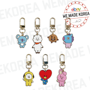 BT21 Character Simple Keyring Metal Keychain 7types Official K-POP Authentic MD