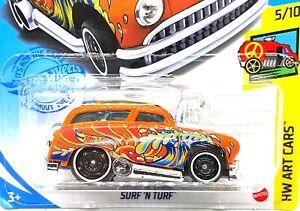 2020 HOT WHEELS SURF N TURF HW Art Cars 5//10 Orange