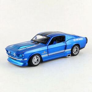 Retro-Ford-Shelby-GT500-1-32-Scale-Model-Car-Diecast-Toy-Vehicle-Kids-Gift-Blue
