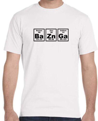 Bazinga Periodic Table Men/'s T-Shirt The Big Bang Theory Sheldon Cooper