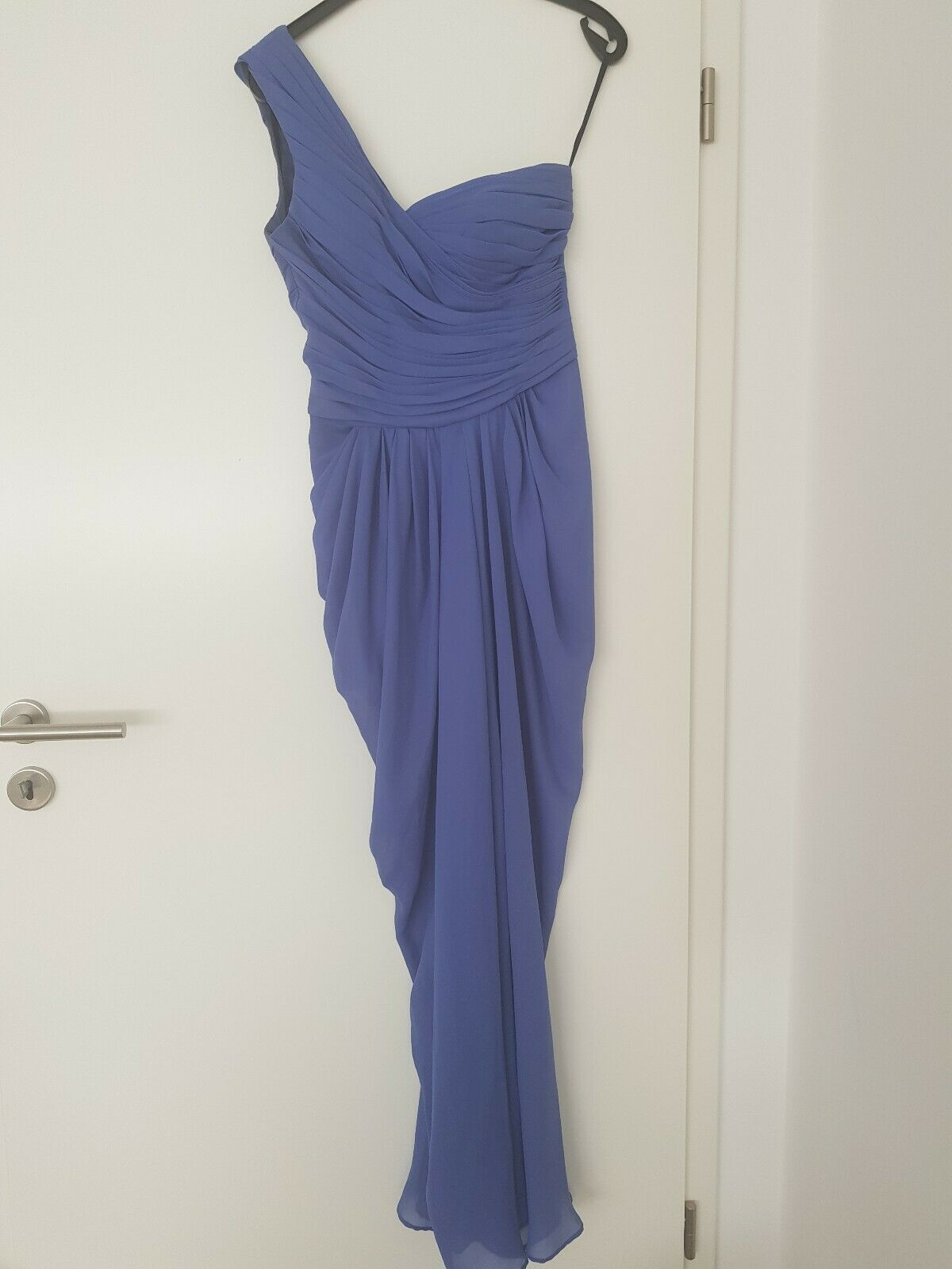 One Shoulder Kleid 36 Blau Abendkleid
