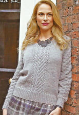 Stylecraft Ladies Sweater Twilight Knitting Pattern 8672 DK SCP-8672