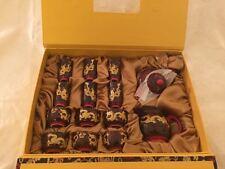 Authentic Porcelain Black and Gold Oriental TEA and SAKE set