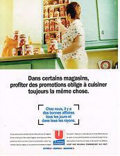 PUBLICITE ADVERTISING 094  1996  MAGASINS U   hyper supermarchés