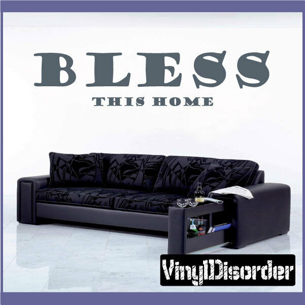 Bless this home Wall Quote Mural Decal-quotesfamily31