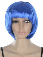 Women's Casual Bobo Full Hair Colored Wigs With Bangs+wig Cap