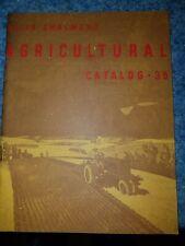 Allis Chambers Farm Tractor Amp Implament Catalog 35 Plows Disc Plant Ac Crawler