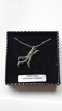 B36 TALONS peltro inglese 3D Platinum collana realizzata a mano 18 pollici