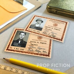 Captain-America-First-Avenger-Prop-War-Dept-Issue-ID-Cards-Pre-amp-Post-Serum