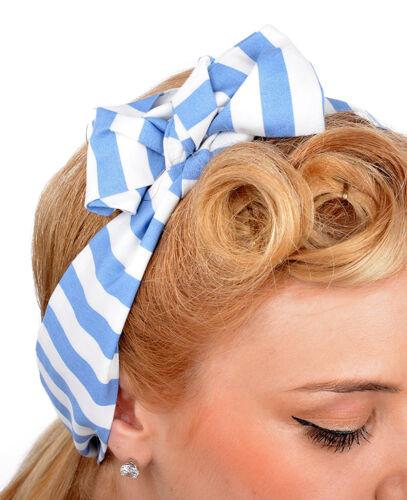 Cute Retro NATALIE Stripe 50s Streifen HAARBAND Rockabilly