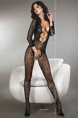 Livco Corsetti Zita Body Stocking Catsuit Red Black White Open Crotch S-xxl Other Women's Intimates