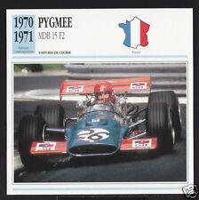 1970-1971 Pygmee MDB 15 F2 Patrick Depailler Car Photo Spec Sheet French Card