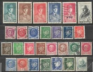L053-28-Timbres-CELEBRITE-PETAIN-Serie-complete-Obliteres-1941