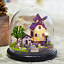 Mini Glass DIY Wooden Provence Dollhouse Kit all Furniture&LED light Music Box