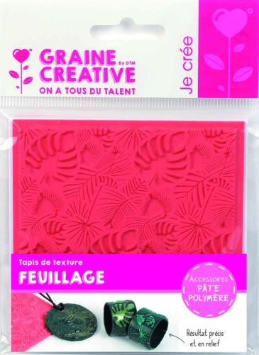 Mat Texture For The Polymer Clay Foliage Graine créative