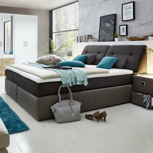 boxspringbett vicky bett schlafzimmerbett polsterbett in elefant braun 180x200 ebay. Black Bedroom Furniture Sets. Home Design Ideas